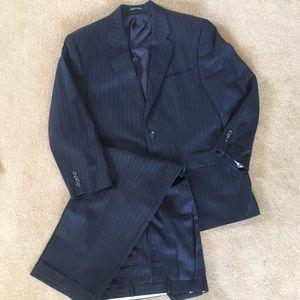 Ralph Lauren Navy Pinstripe Suit